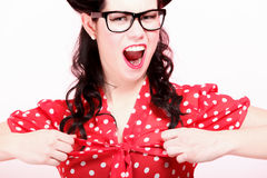 Beautiful young woman shouting / screaming Royalty Free Stock Photography
