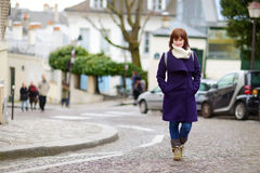 Beautiful young woman sightseeing in Paris Stock Photography