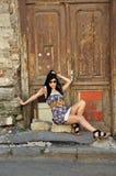 Beautiful young woman sitting Royalty Free Stock Image