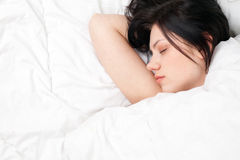 Beautiful young woman sleeping Stock Image