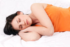 Beautiful young woman sleeping Royalty Free Stock Image