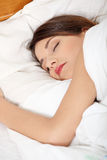 Beautiful young woman sleeping Royalty Free Stock Photography