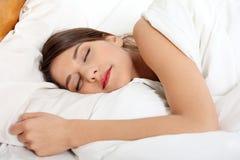 Beautiful young woman sleeping Stock Image
