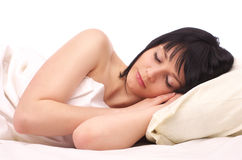 Beautiful young woman sleeping Stock Photography