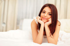 Beautiful young woman sleeping Stock Photo