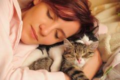 Beautiful young woman sleeps Royalty Free Stock Photography