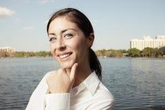 Beautiful young woman smiling Stock Photos