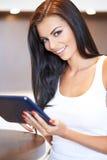 Beautiful young woman smiling at the camera Stock Photos