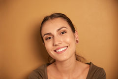 Beautiful young woman smiling for camera Royalty Free Stock Images