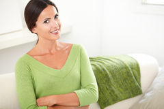 Beautiful young woman smiling with confidence Stock Image