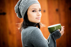 Beautiful young woman smiling Stock Image