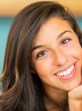Beautiful Young Woman Smiling. Portrait of Beautiful Young Woman Smiling Stock Image