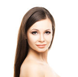 Beautiful young woman with smooth skin Stock Image