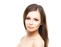 Beautiful young woman with smooth skin Stock Images