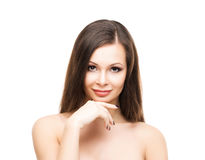 Beautiful young woman with smooth skin Stock Photos