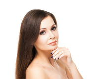 Beautiful young woman with smooth skin Royalty Free Stock Image