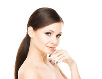 Beautiful young woman with smooth skin Royalty Free Stock Photos