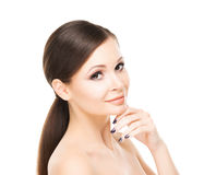 Beautiful young woman with smooth skin Stock Photography