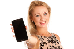 Beautiful young woman with snartphone Stock Image
