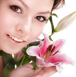 Beautiful young woman in spa. Stock Images