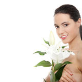 Beautiful young woman in spa Royalty Free Stock Photography