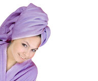 Beautiful young woman in spa. Stock Photos