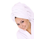 Beautiful young woman in spa. Royalty Free Stock Photography