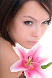 Beautiful young woman in spa. Royalty Free Stock Photos
