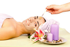 Woman Skincare Treatment Royalty Free Stock Photography