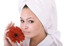 Beautiful young woman in spa. Health . Royalty Free Stock Photo