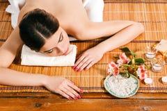 Beautiful young woman at a spa salon Royalty Free Stock Photos