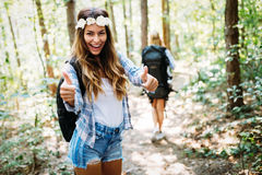 Beautiful young woman spending time in nature Stock Image