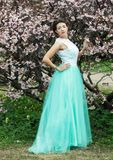 Beautiful young woman at spring garden Royalty Free Stock Photo