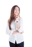 Beautiful young woman standing and smile Royalty Free Stock Photo