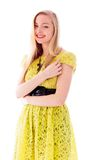 Beautiful young woman standing and smiling Stock Photography