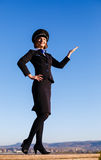 Beautiful young woman stewardess Stock Photography