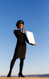Beautiful young woman stewardess Royalty Free Stock Image