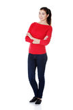 Beautiful young woman ( student ) in casual clothes Royalty Free Stock Image