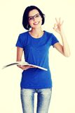 Beautiful young woman student. Stock Image