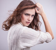 Beautiful young woman. Stock Photos