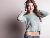 Beautiful young woman. Studio photo. Stock Photo