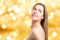 Beautiful young woman studio portrait Stock Photos