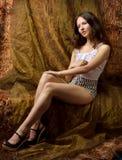 Beautiful young woman in studio. Stock Photos