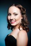 Beautiful young woman, studio shot Stock Photos