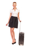 Beautiful young woman with suitcase. Stock Photography