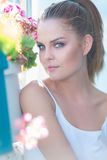 Beautiful young woman in summer sunshine Royalty Free Stock Photos
