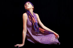 Beautiful young woman in sundress Royalty Free Stock Images