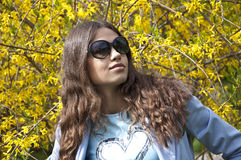 Beautiful young woman with sunglasses Stock Photo