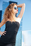Beautiful young woman in sunglasses Royalty Free Stock Images