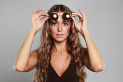 Beautiful young woman in sunglasses Royalty Free Stock Photo